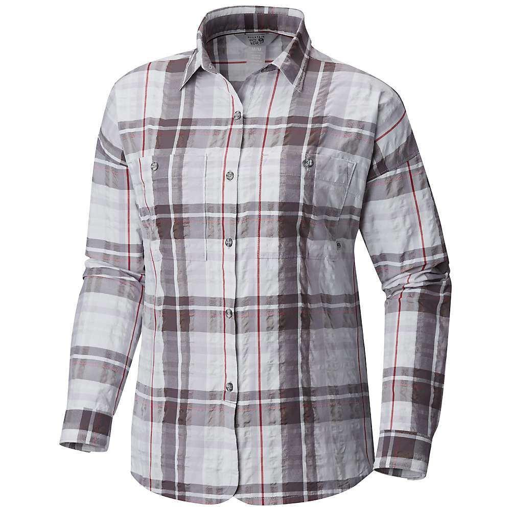 マウンテンハードウェア Mountain Hardwear レディース ブラウス・シャツ トップス【Canyon VNT Long Sleeve Shirt】Fogbank