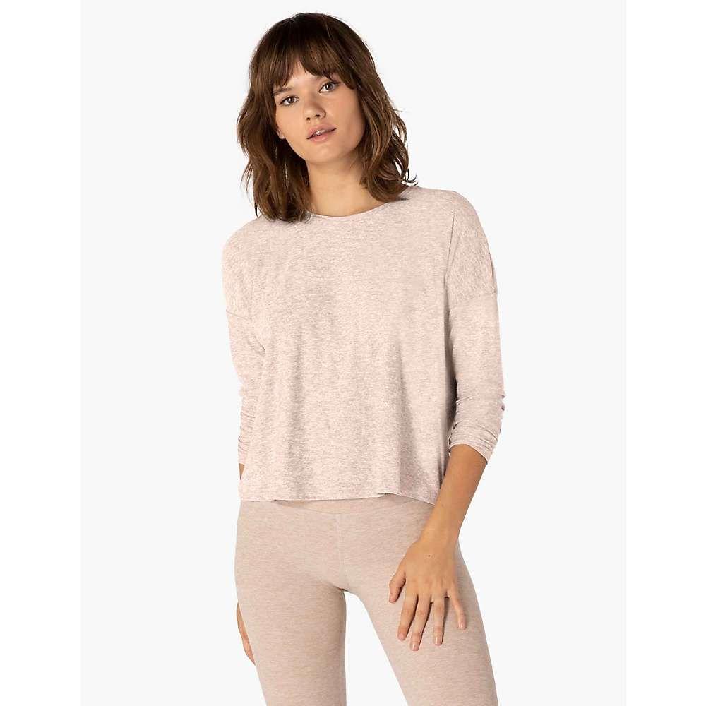 ビヨンドヨガ Beyond Yoga レディース ヨガ・ピラティス トップス【Morning Lightweight Cropped Pullover】Pink Quartz/Oatmeal