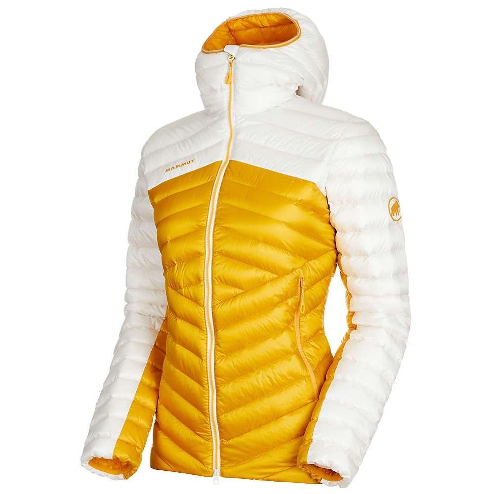 マムート Mammut レディース ダウン・中綿ジャケット フード アウター【Broad Peak IN Hooded Jacket】Golden/Bright White