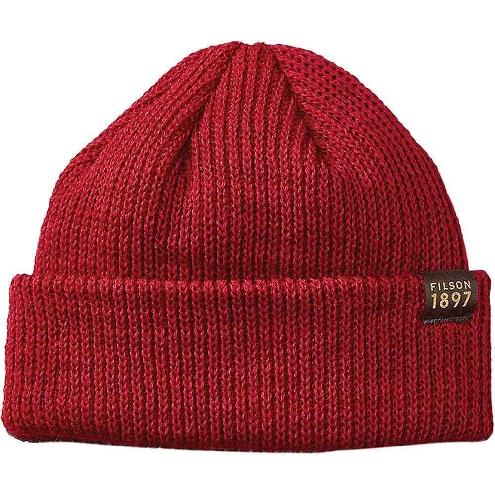 フィルソン Filson メンズ ニット ワッチキャップ 帽子【Watch Cap】Red