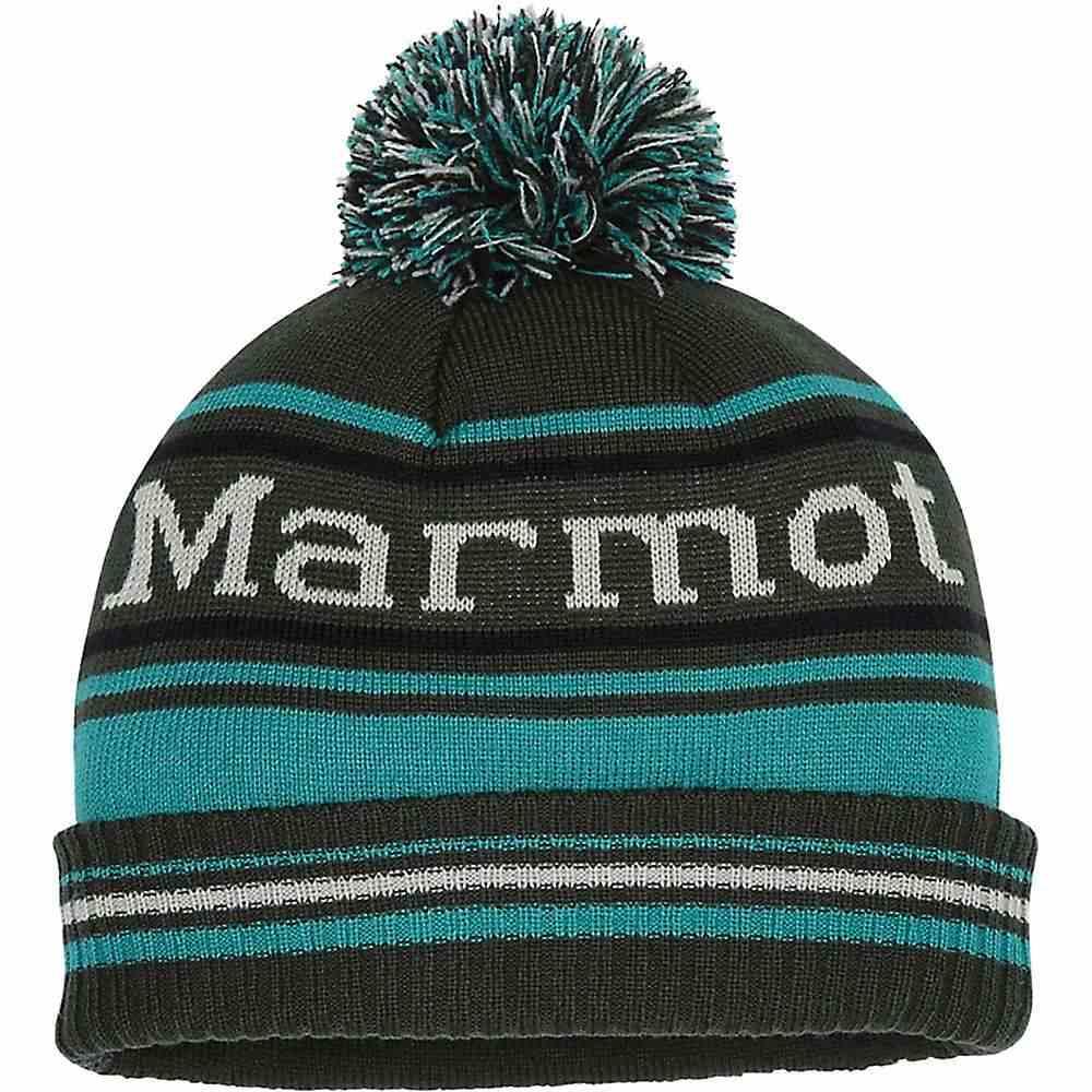 マーモット Marmot メンズ ニット 帽子 Retro Pom Hat Rosin Green Deep JunglePZuXik