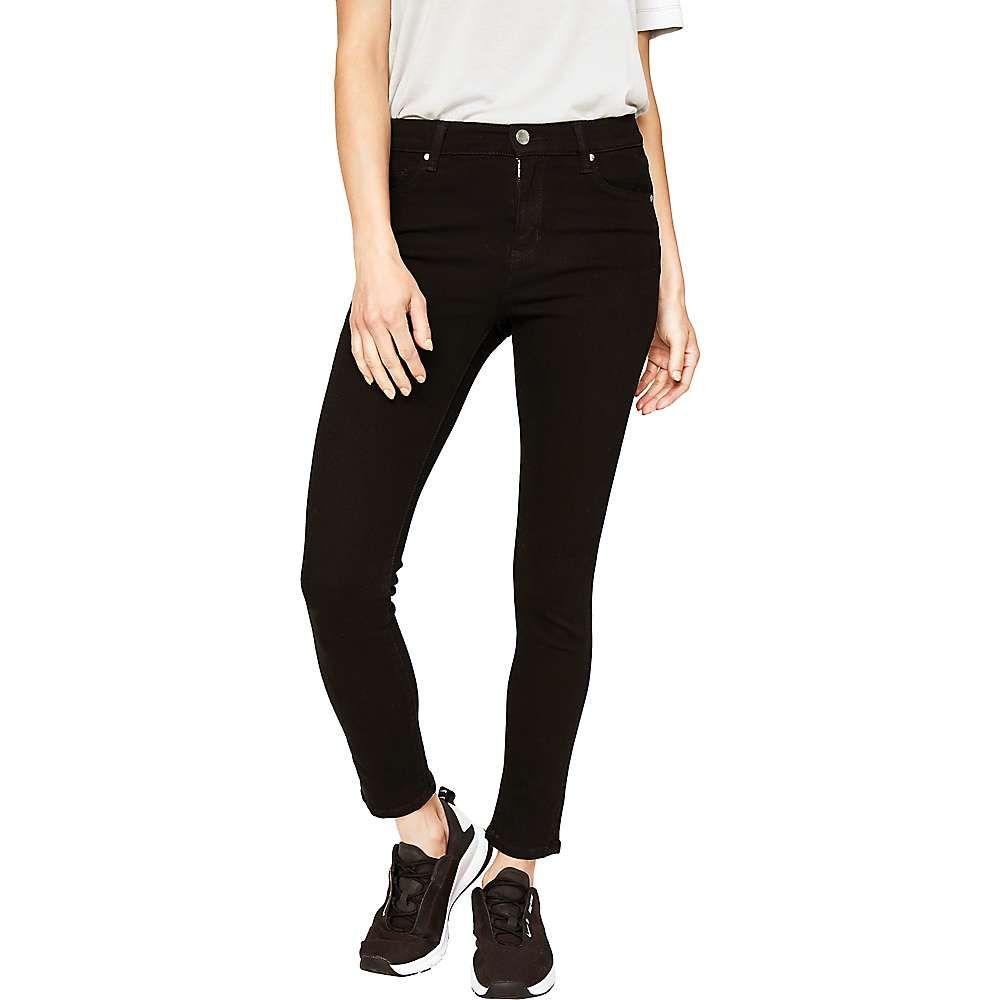 ロール Lole レディース ヨガ・ピラティス ジーンズ・デニム スキニー・スリム ボトムス・パンツ【Skinny 7/8 Yoga High Jean】Black Overdyed