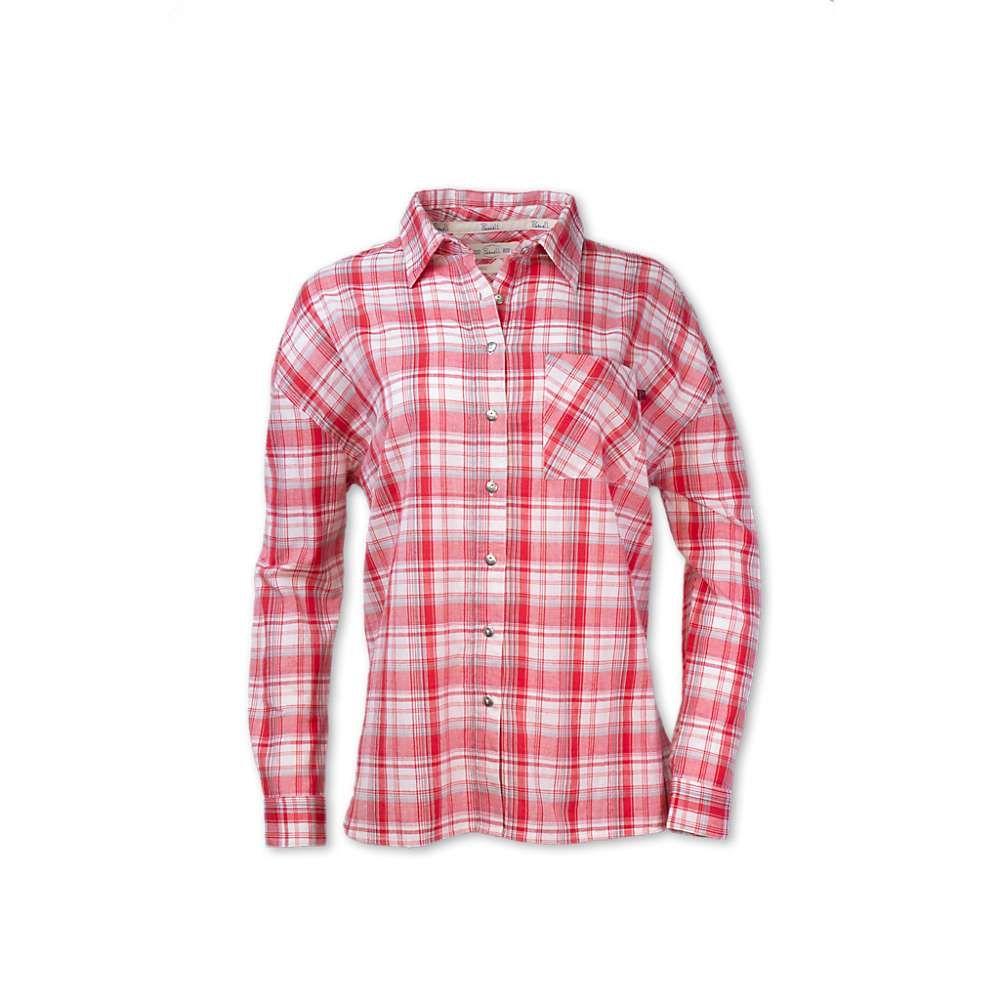 パーネル Purnell レディース ブラウス・シャツ トップス【Boyfriend Shirt】Red