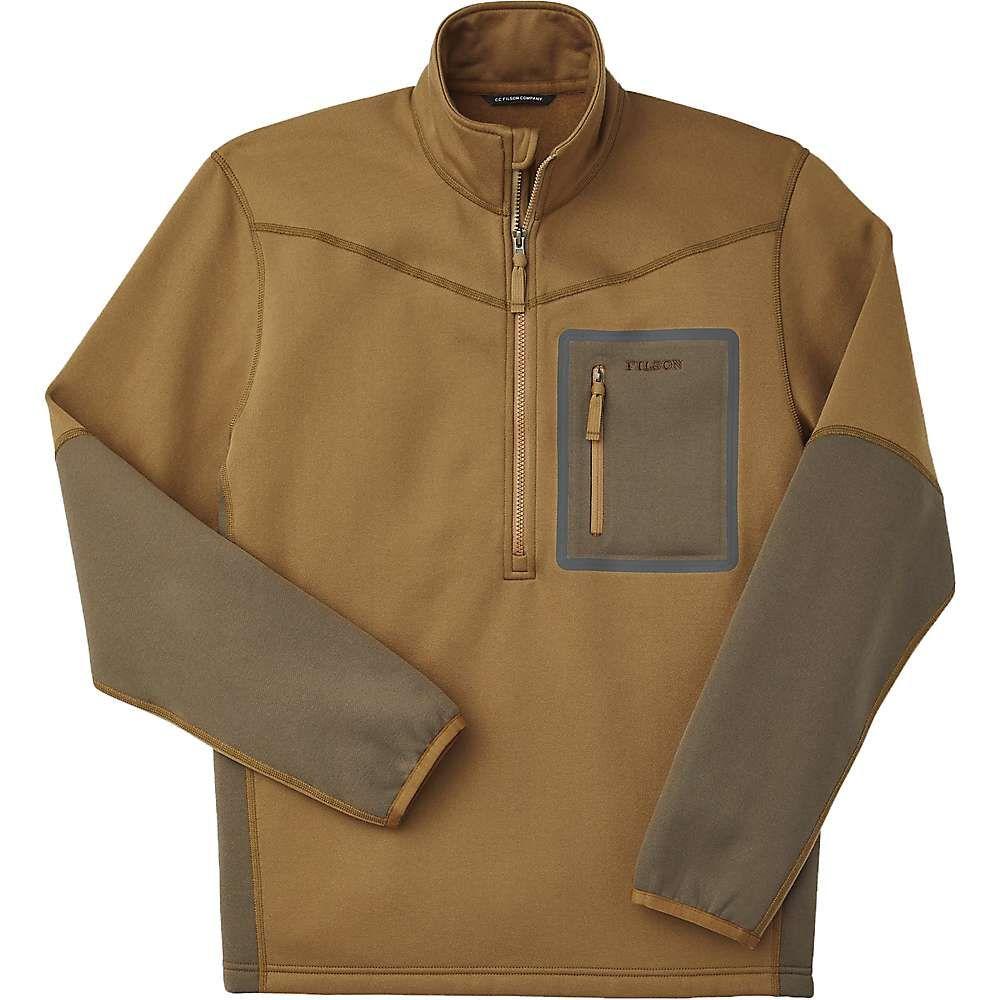 フィルソン Filson メンズ フリース ハーフジップ トップス【Shuksan 1/2 Zip Fleece Top】Dark Tan/Stone Brown