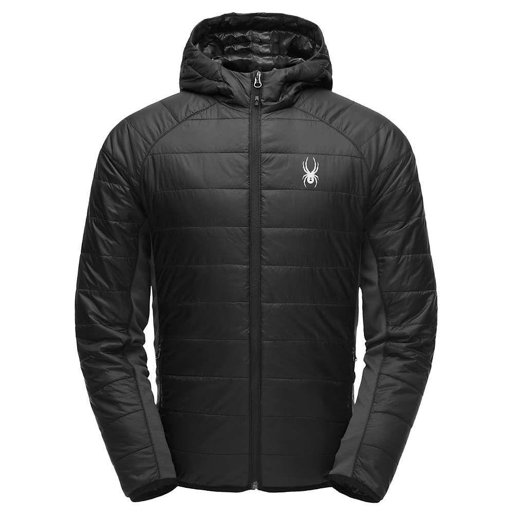 スパイダー Spyder メンズ ジャケット アウター【Glissade Hoody Insulator Jacket】Black/Polar/Black