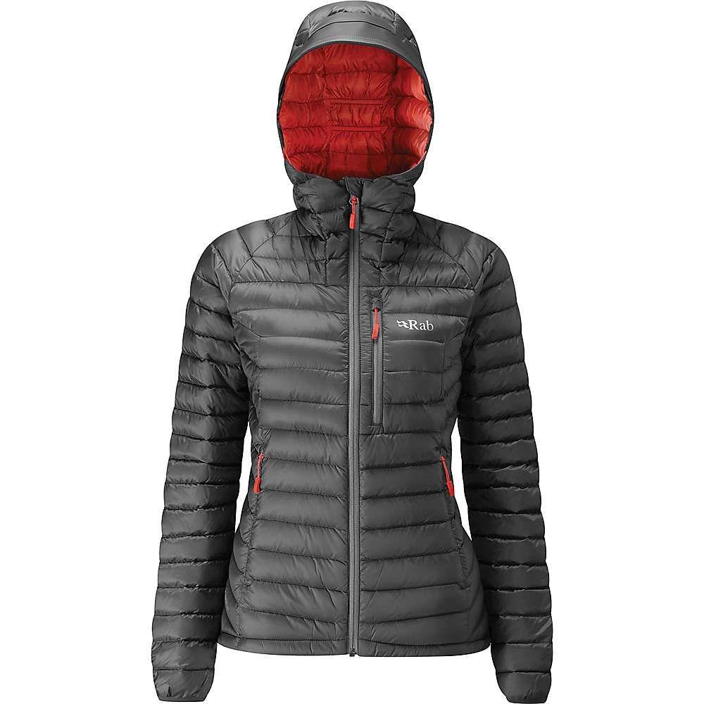 ラブ Rab レディース ダウン・中綿ジャケット アウター【Microlight Alpine XLong Jacket】Steel/Passata