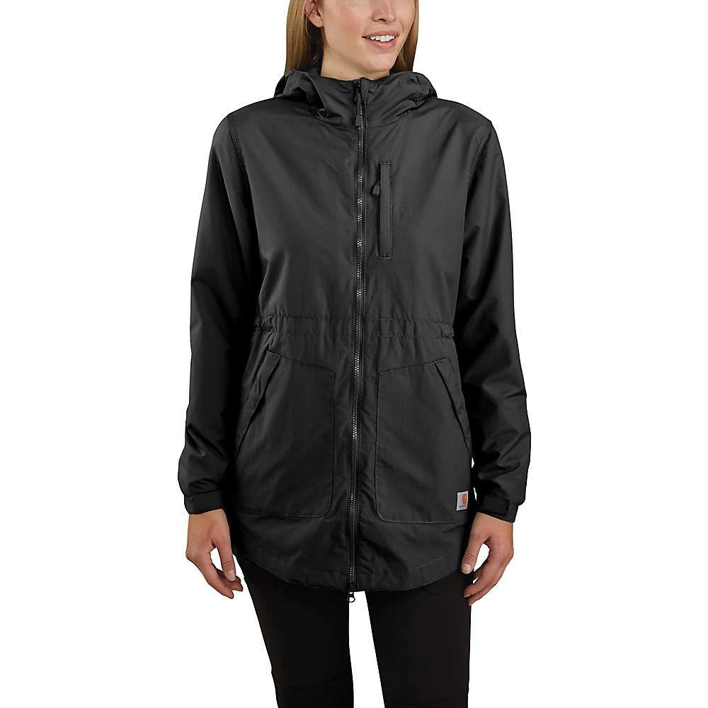 カーハート Carhartt レディース レインコート アウター【Rain Defender Nylon Coat】Black