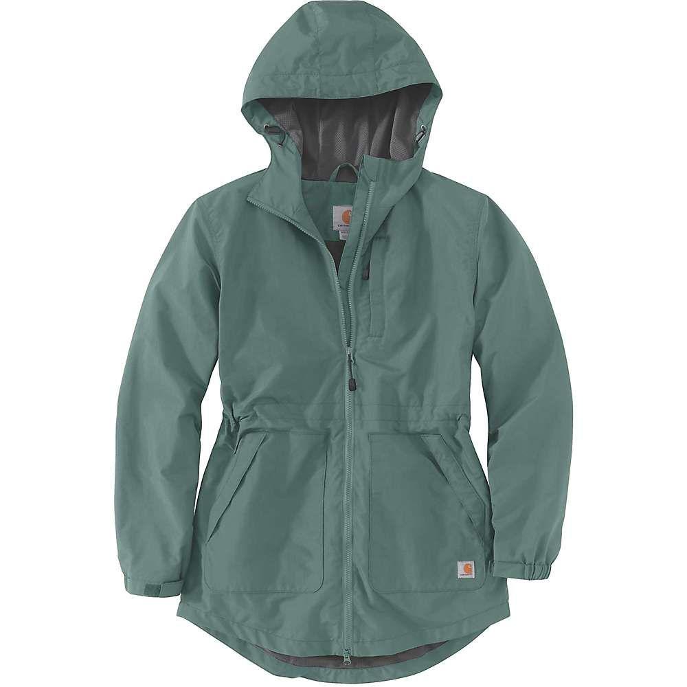 カーハート Carhartt レディース レインコート アウター【Rain Defender Nylon Coat】Musk Green