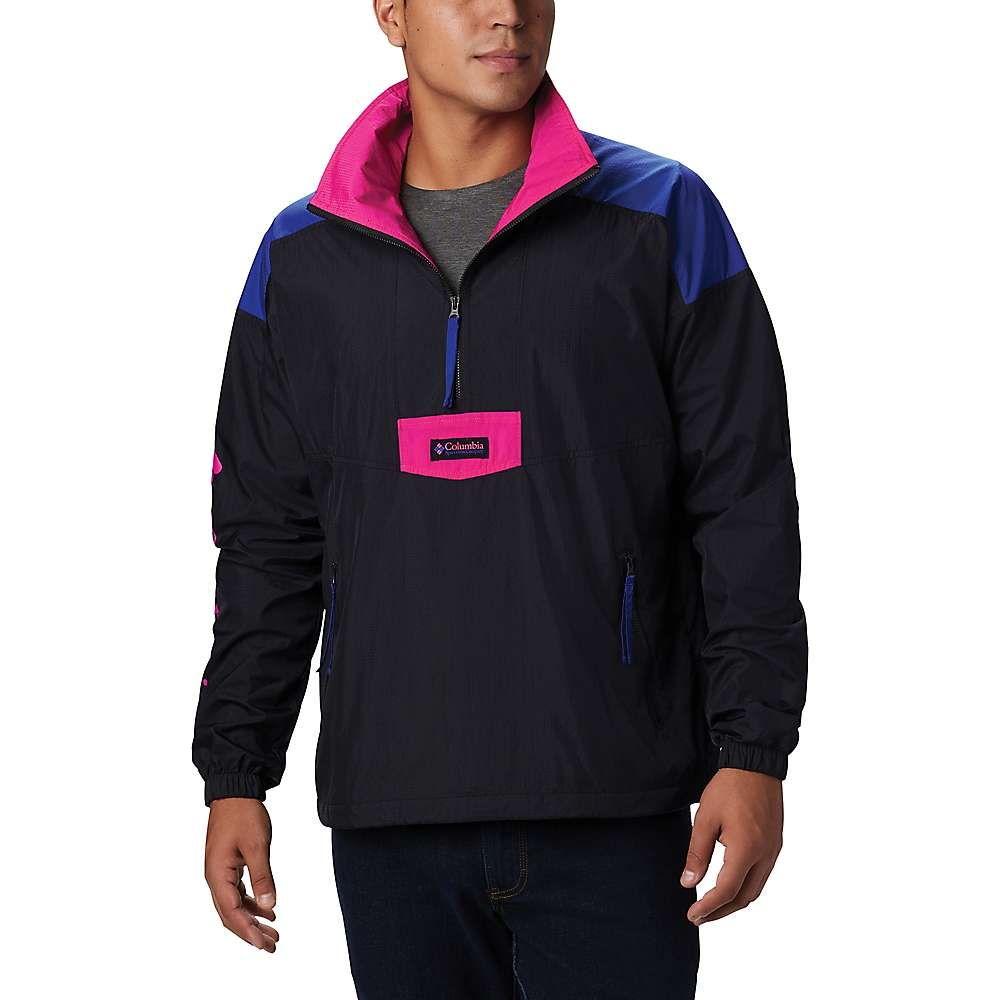 コロンビア Columbia メンズ ジャケット アノラック アウター【Santa Ana Anorak】Black/Azul/Cactus Pink