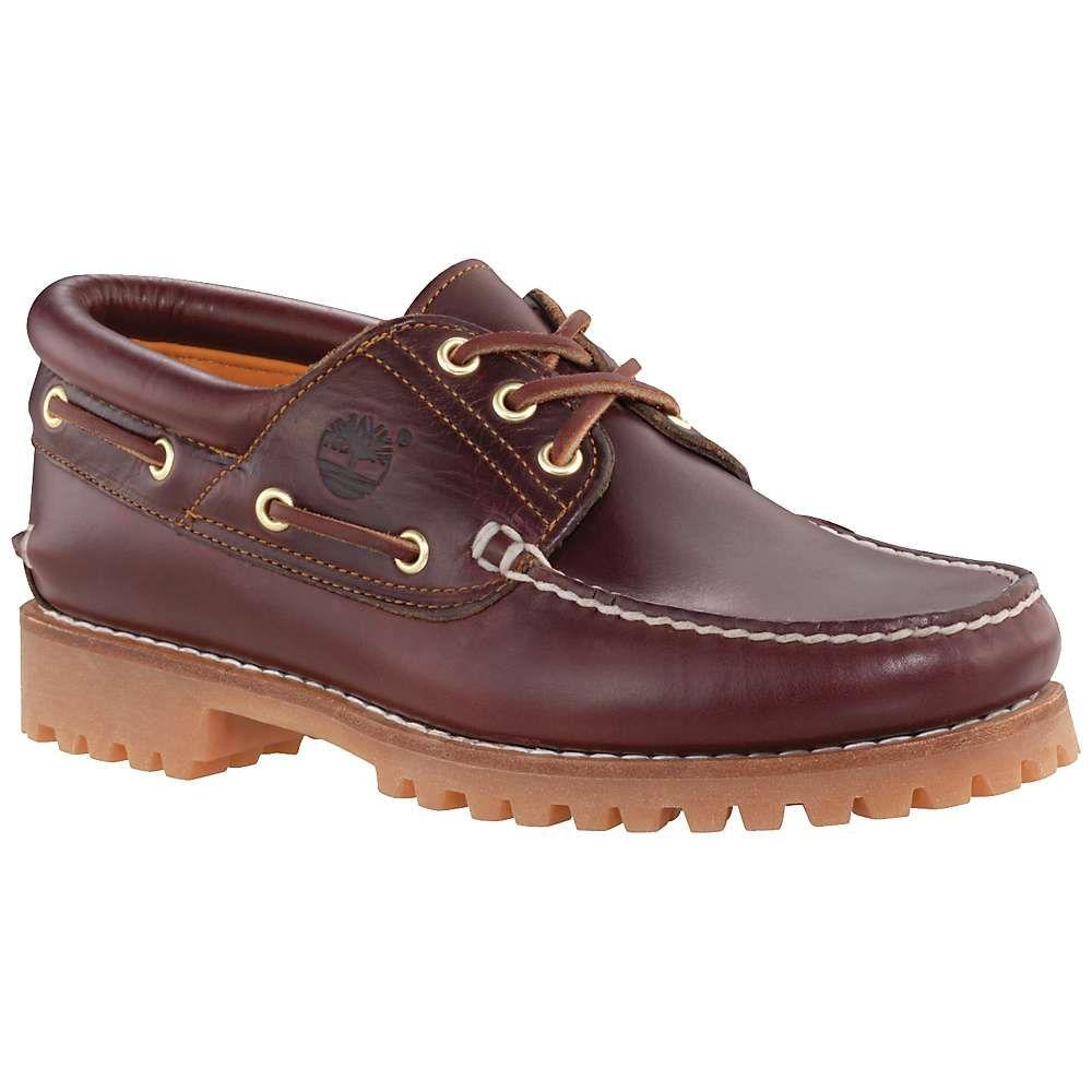 ティンバーランド Timberland メンズ シューズ・靴 【Authentics 3-Eye Classic Lug Shoe】Burgundy Nubuck