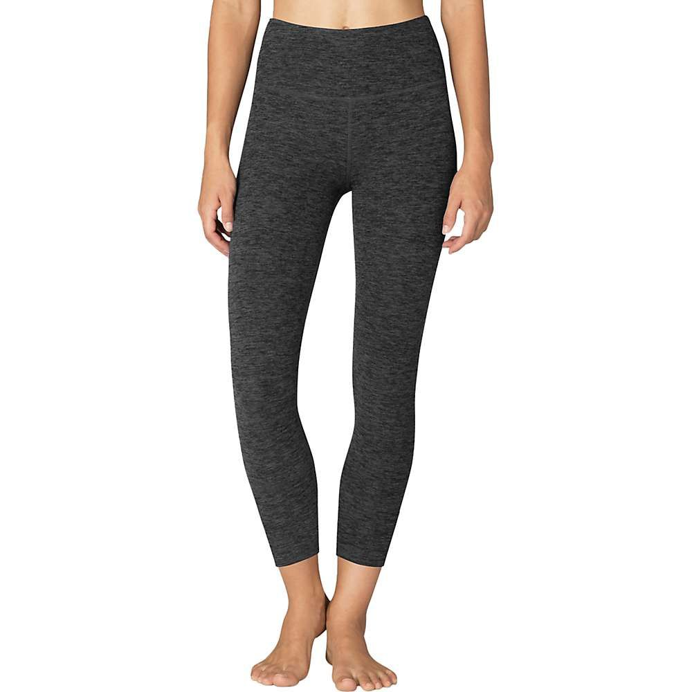 ビヨンドヨガ Beyond Yoga レディース ヨガ・ピラティス スパッツ・レギンス ボトムス・パンツ【Spacedye Caught in the Midi High Waisted Legging】Black/Charcoal