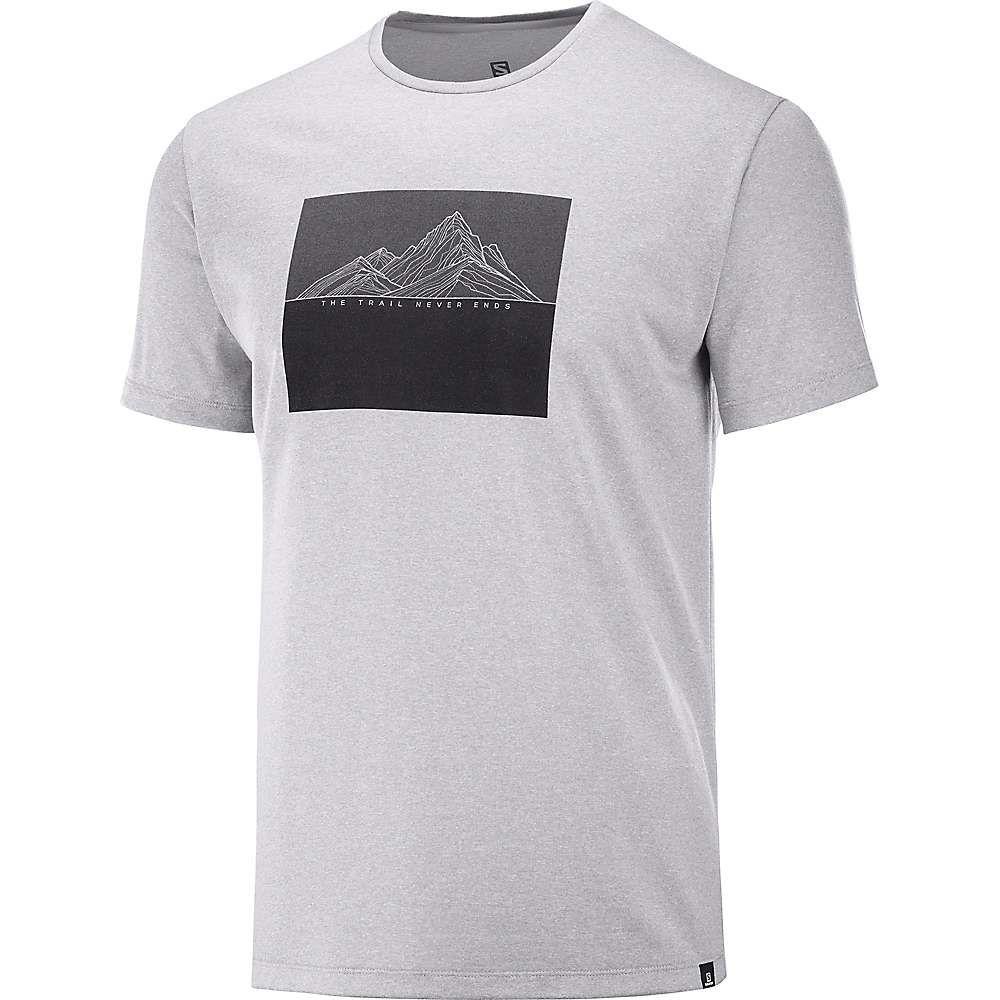 サロモン Salomon メンズ ランニング・ウォーキング Tシャツ トップス【Agile Graphic Tee】Alloy