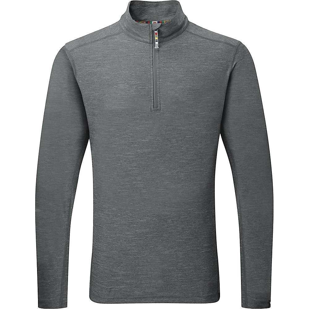 シェルパ Sherpa メンズ フィットネス・トレーニング Tシャツ トップス【Rinchen Zip Tee】Kharani Grey