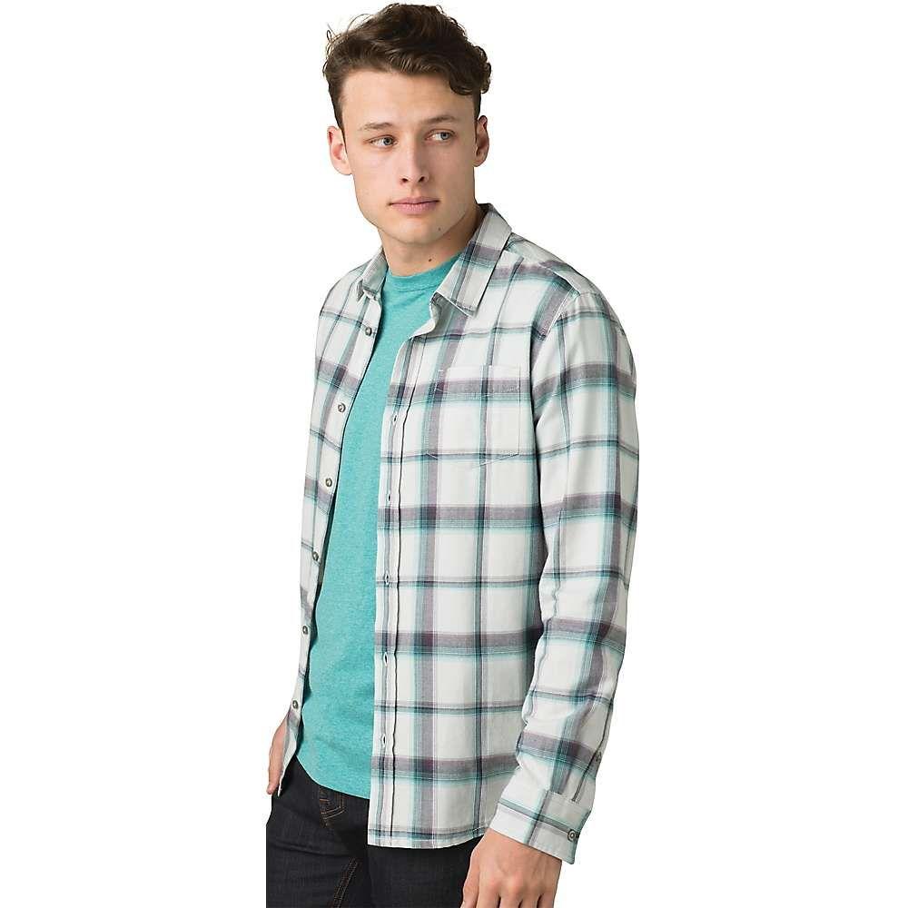 プラーナ Prana メンズ シャツ フランネルシャツ トップス【Shayne LS Flannel Shirt】Silver Spray