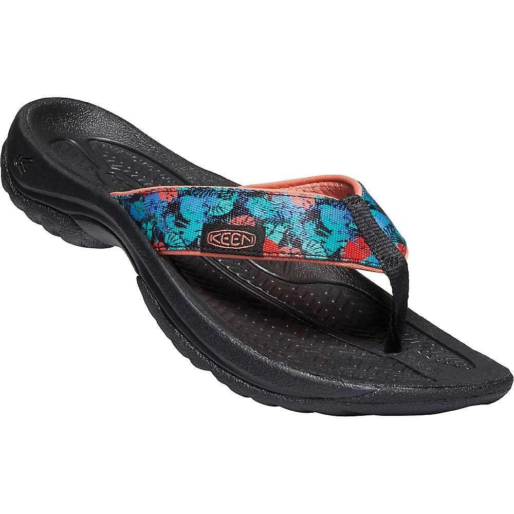 キーン Keen レディース ビーチサンダル シューズ・靴【Kona Flip Flop】Black Multi/Coral