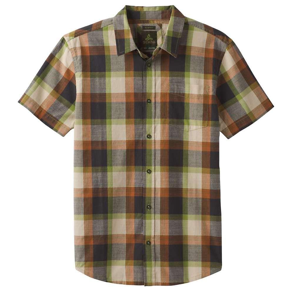 プラーナ Prana メンズ 半袖シャツ トップス【Benton Shirt- Slim】Matcha