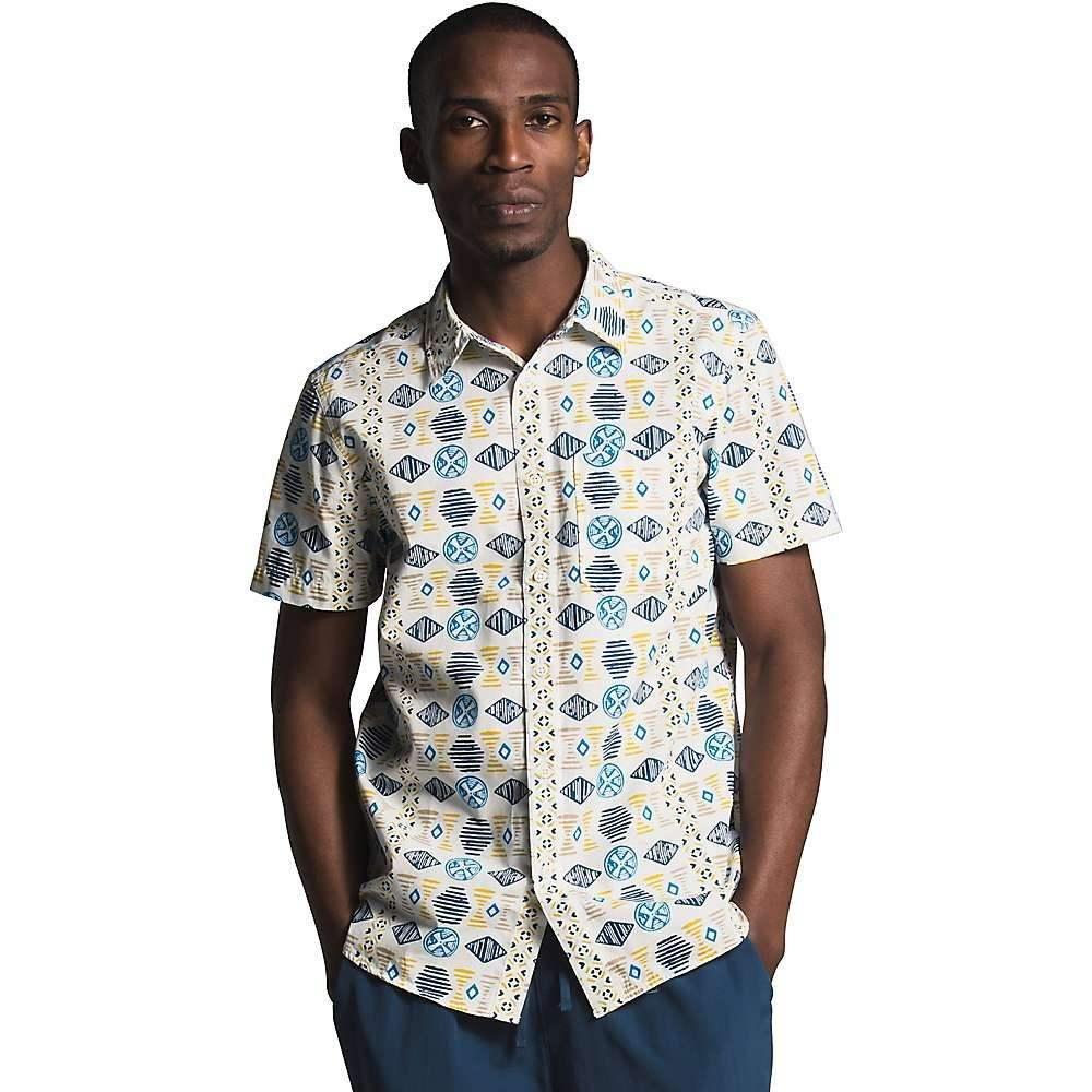 ザ ノースフェイス The North Face メンズ 半袖シャツ トップス【Baytrail Pattern SS Shirt】Vintage White Song Lines Print