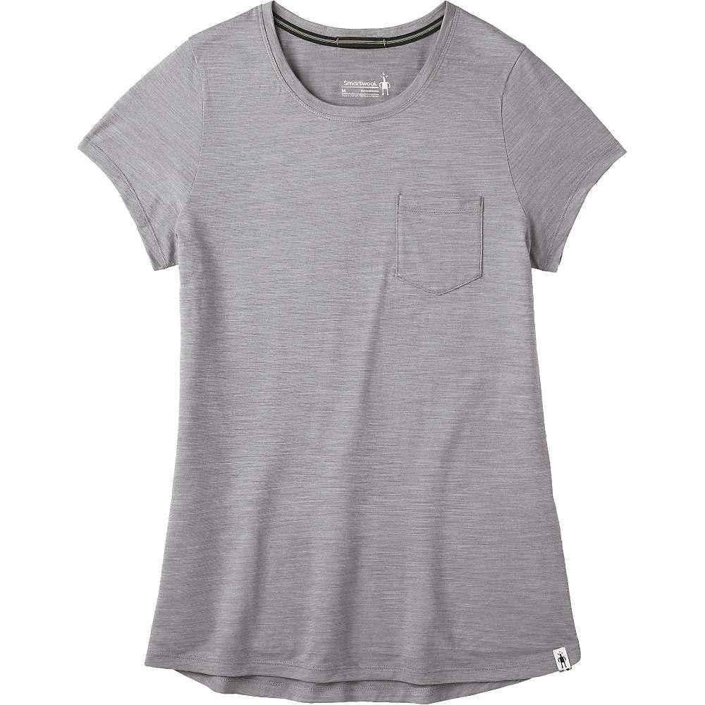 スマートウール Smartwool レディース フィットネス・トレーニング ポケット Tシャツ トップス【Merino Sport 150 Pocket Tee】Light Grey Heather