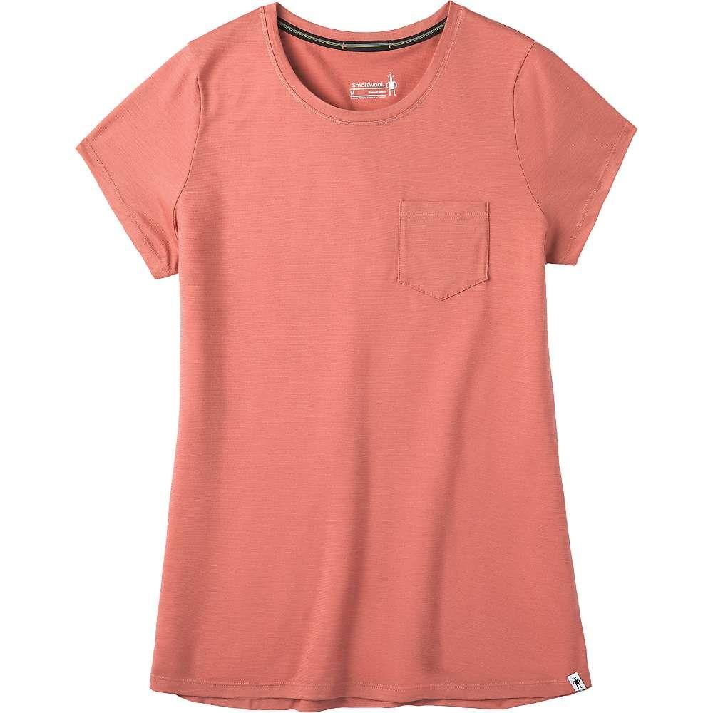 スマートウール Smartwool レディース フィットネス・トレーニング ポケット Tシャツ トップス【Merino Sport 150 Pocket Tee】Canyon Rose