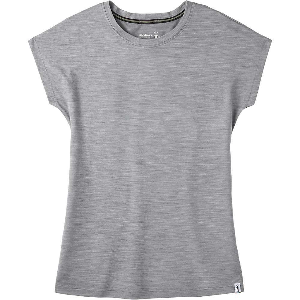 スマートウール Smartwool レディース フィットネス・トレーニング Tシャツ トップス【Merino Sport 150 Tee】Light Grey Heather