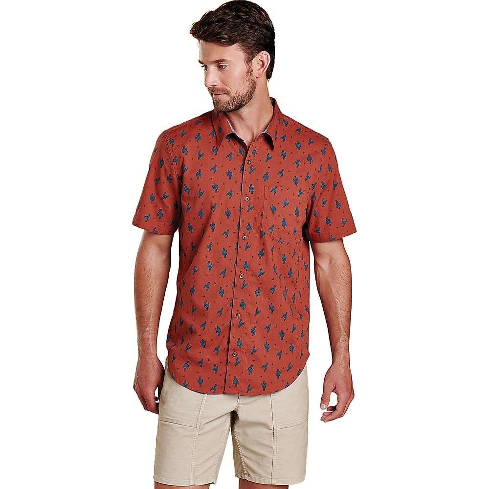 トードアンドコー Toad & Co メンズ 半袖シャツ トップス【Fletch SS Shirt】Coconut Shell Rocker Cactus Print