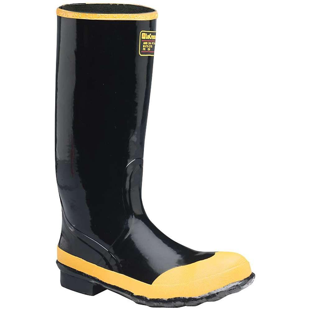 ラクロッセ Lacrosse メンズ レインシューズ・長靴 ロングブーツ シューズ・靴【Economy 16IN Steel Toe Knee Boot】Black