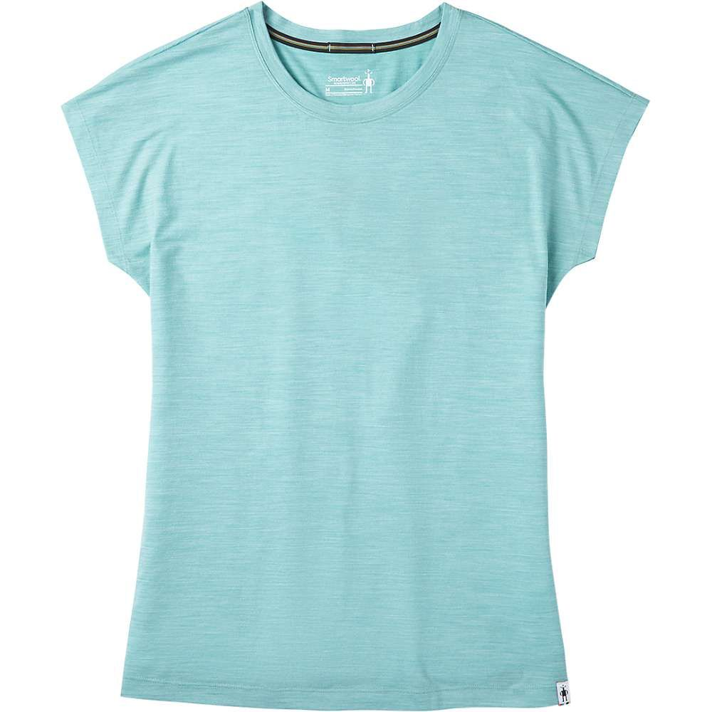 スマートウール Smartwool レディース フィットネス・トレーニング Tシャツ トップス【Merino Sport 150 Tee】Wave Blue Heather