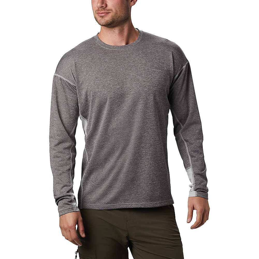 コロンビア メンズ トップス 長袖Tシャツ Cool Grey 豊富な品 サイズ交換無料 Columbia Crew お求めやすく価格改定 LS Irico Knit Top