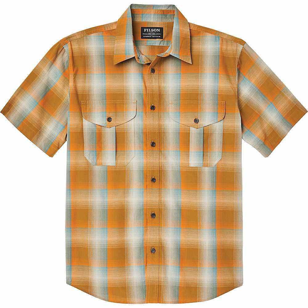 フィルソン Filson メンズ 半袖シャツ トップス【Short Sleeve Feather Cloth Shirt】Dark Gold/Pine Plaid