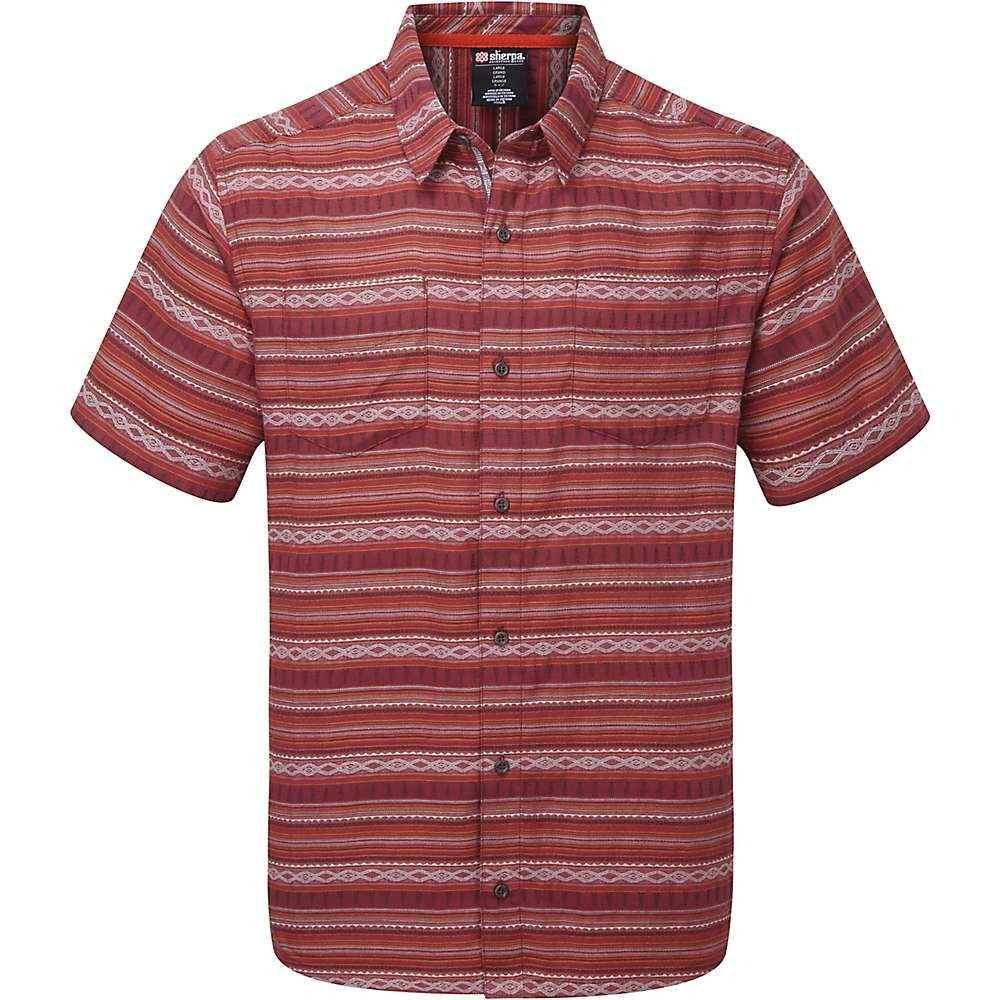 シェルパ Sherpa メンズ 半袖シャツ トップス【Bhaku Shirt】Ganden Red