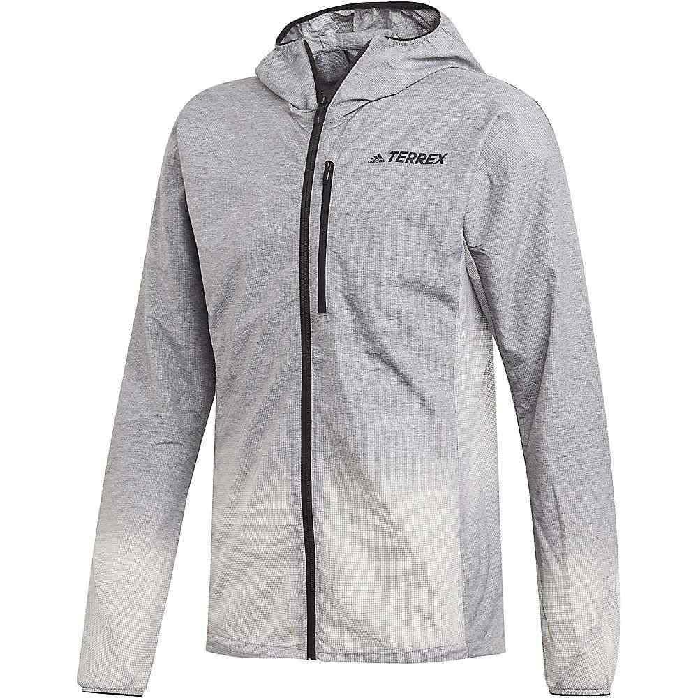 アディダス Adidas メンズ ジャケット アウター【Agravic Windweave Jacket】Grey Four/White