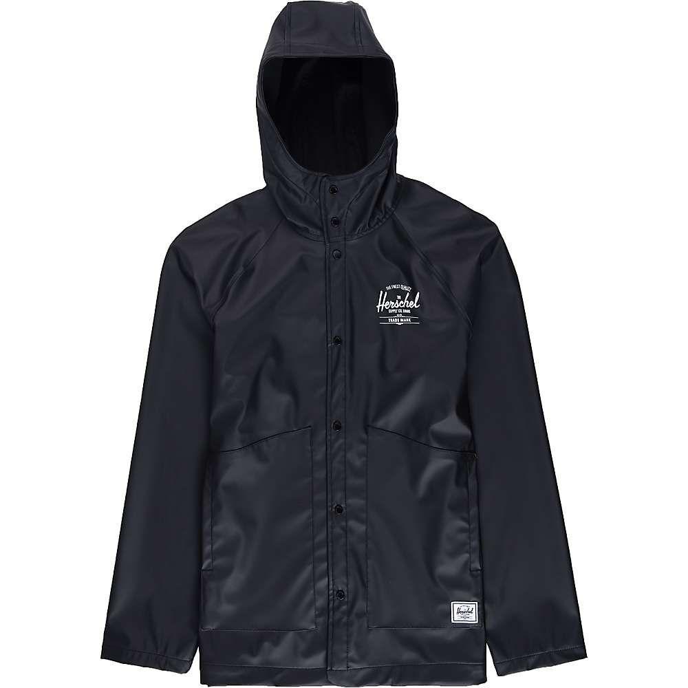ハーシェル サプライ Herschel Supply Co メンズ レインコート アウター【Classic Rain Jacket】Black/White Classic Logo