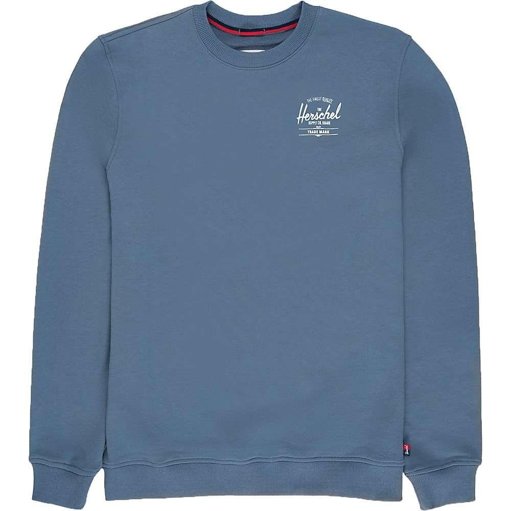ハーシェル サプライ Herschel Supply Co メンズ トップス 【Crewneck】Classic Logo Blue Mirage/White
