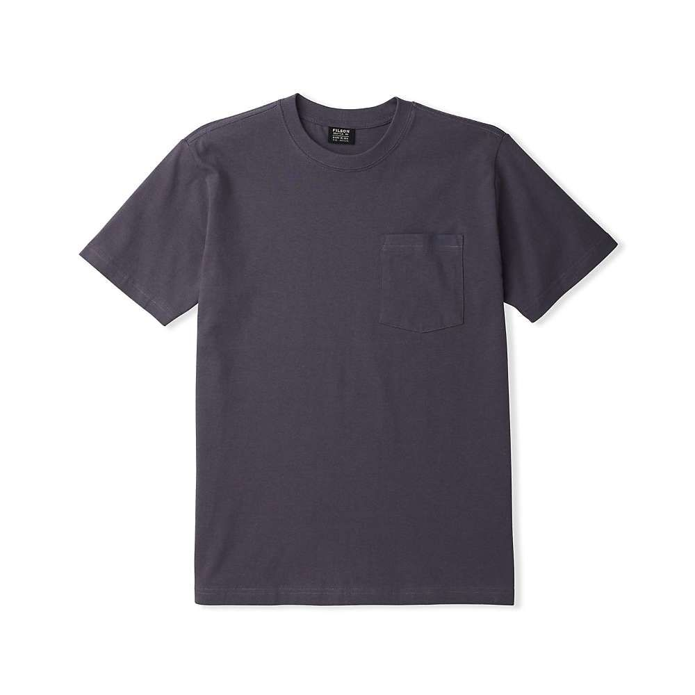フィルソン Filson メンズ Tシャツ トップス【Outfitter Solid One-Pocket SS T-Shirt】Ink Blue