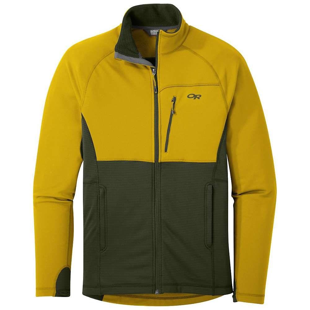 アウトドアリサーチ Outdoor Research メンズ フリース トップス【Vigor Full Zip Jacket】Turmeric/Forest
