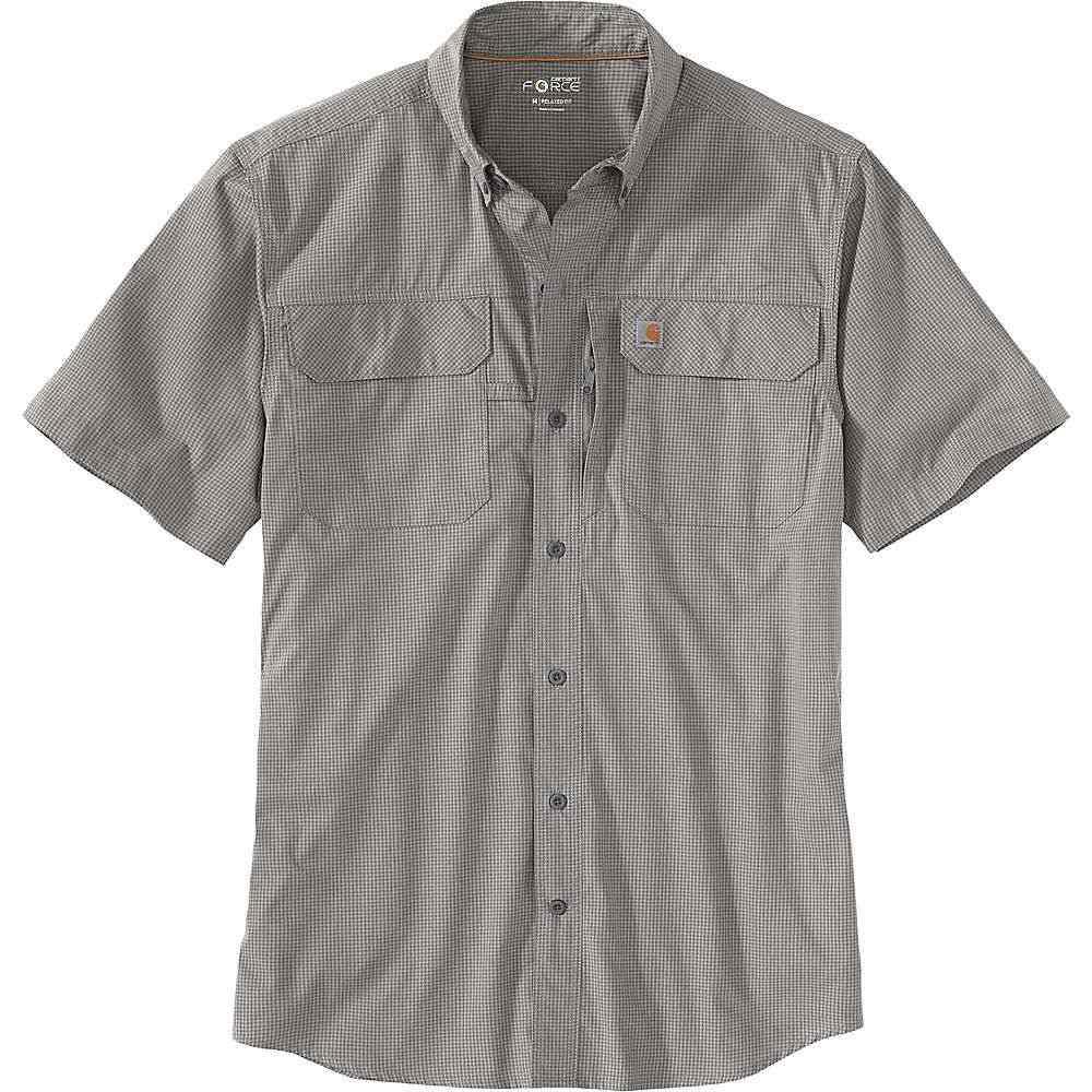 カーハート Carhartt メンズ 半袖シャツ トップス【Force Relaxed-Fit Lightweight SS Button-Front Plaid Shirt】Asphalt