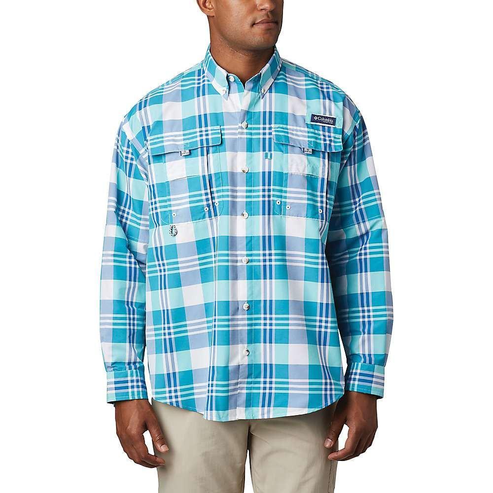 コロンビア Columbia メンズ シャツ トップス【Super Bahama LS Shirt】Bright Aqua Multi Plaid