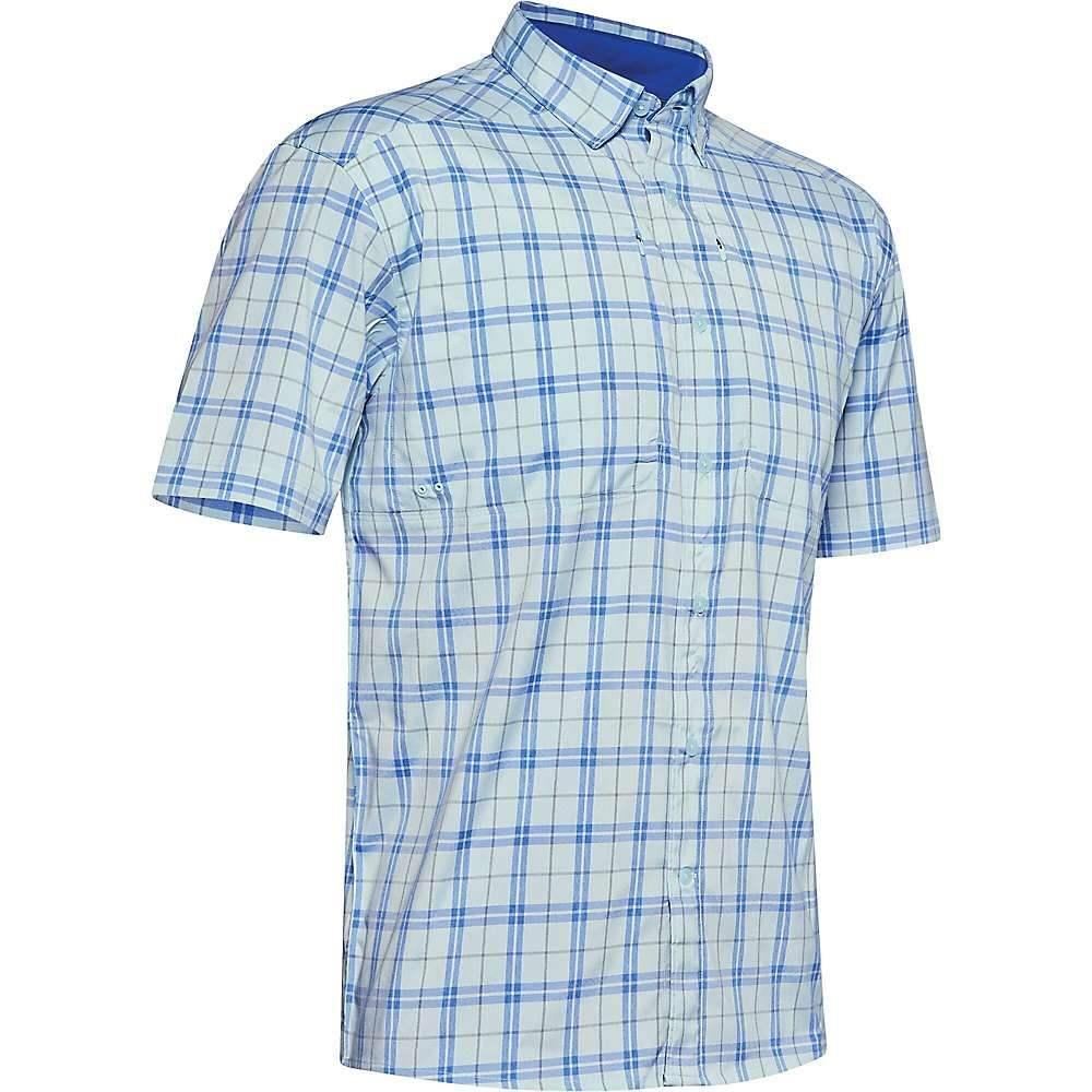 アンダーアーマー Under Armour メンズ 半袖シャツ トップス【Tide Chaser 2.0 Plaid SS Shirt】Rift Blue/Versa Blue/Rift Blue