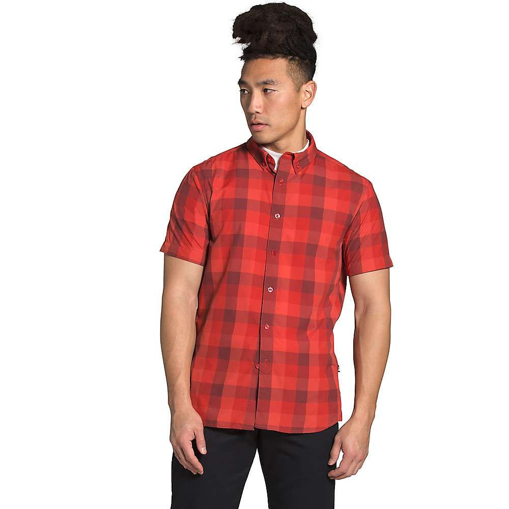 ザ ノースフェイス The North Face メンズ 半袖シャツ トップス【Monanock SS II Shirt】Sunbaked Red Timber Plaid