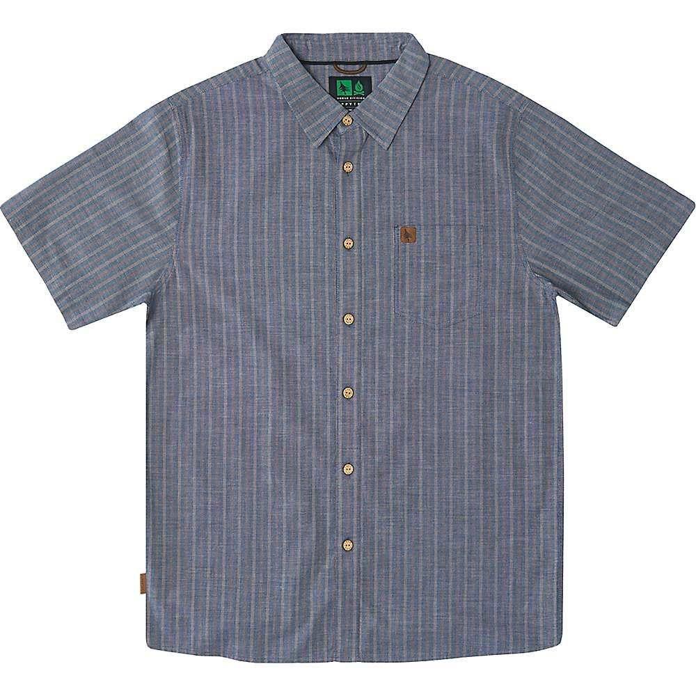 ヒッピーツリー HippyTree メンズ 半袖シャツ トップス【Ascent Woven Shirt】Blue