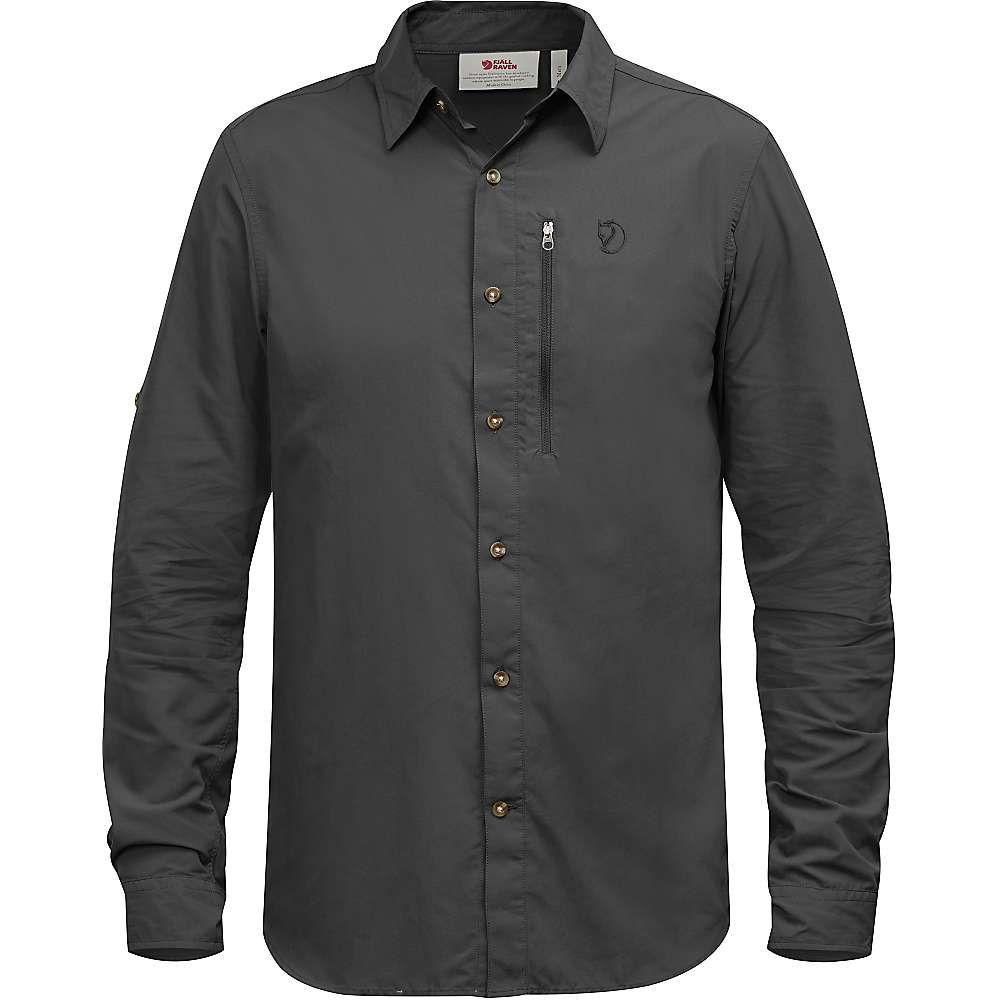 フェールラーベン Fjallraven メンズ ハイキング・登山 シャツ トップス【Abisko Hike LS Shirt】Dark Grey