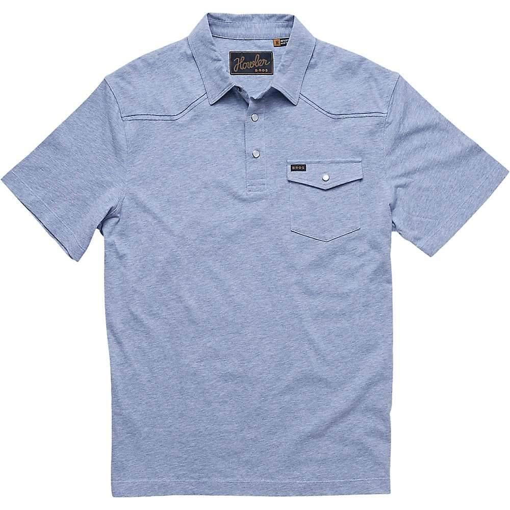 ホウラーブラザーズ Howler Brothers メンズ ポロシャツ トップス【Ranchero Polo】Vintage Blue Heather