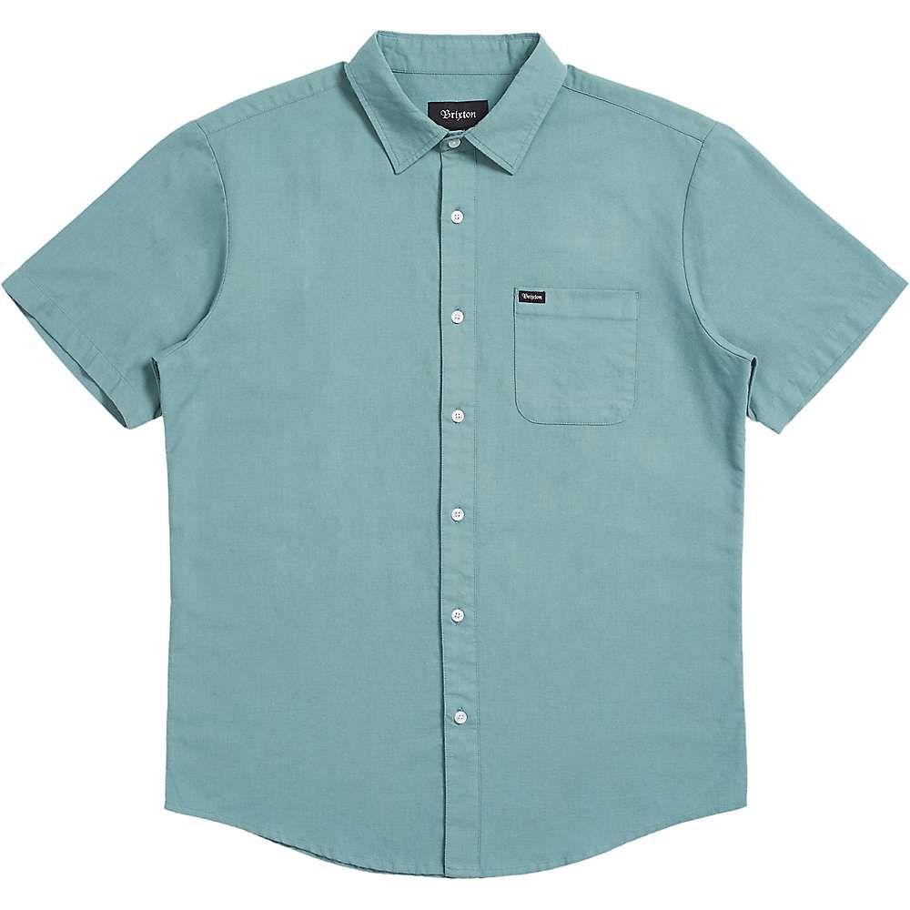 ブリクストン Brixton メンズ 半袖シャツ トップス【Charter Oxford SS Shirt】Jade