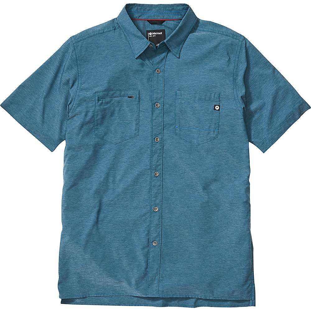 マーモット Marmot メンズ ハイキング・登山 半袖シャツ トップス【Innesdale SS Shirt】Denim