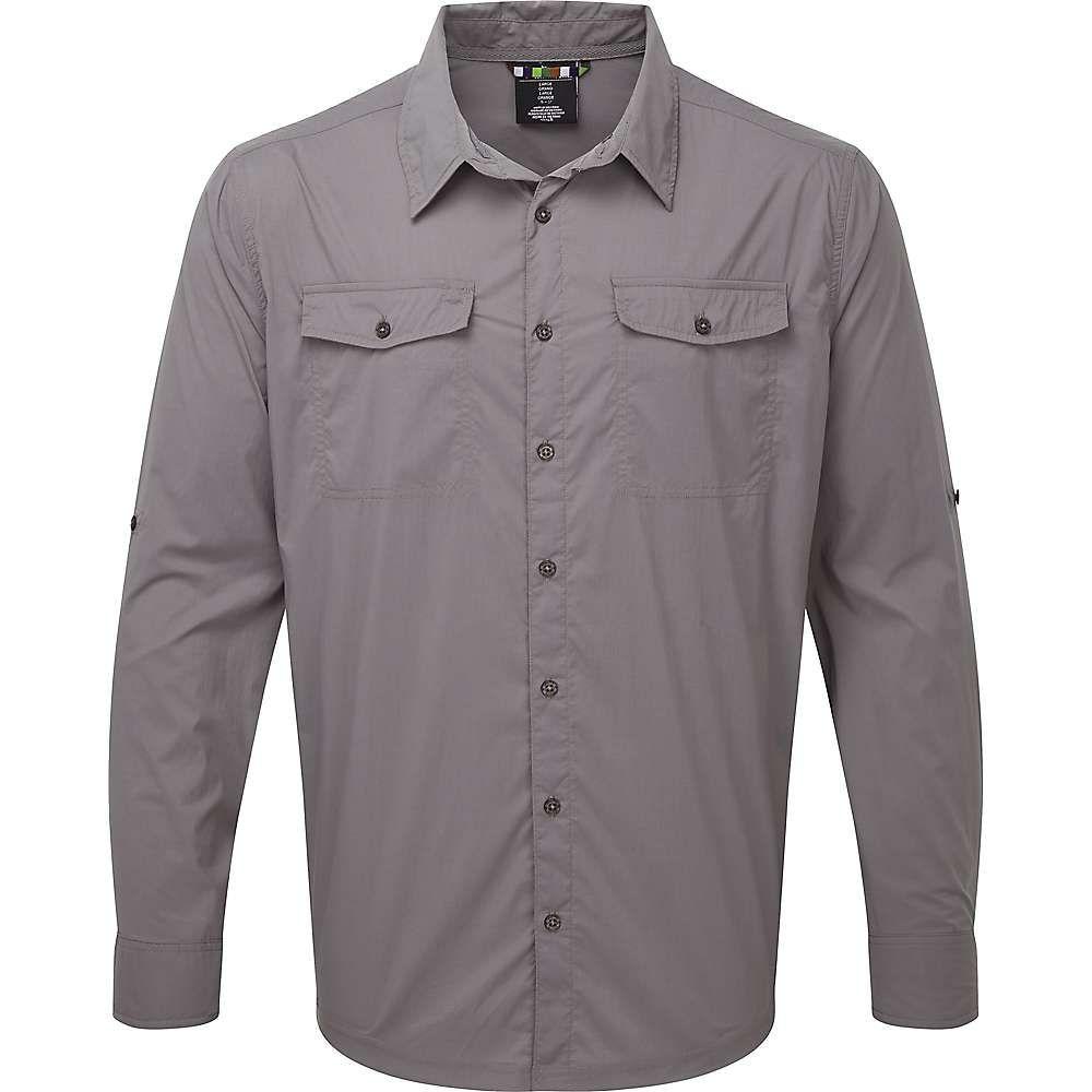 シェルパ Sherpa メンズ ハイキング・登山 シャツ トップス【Ravi LS Shirt】Monsoon Grey