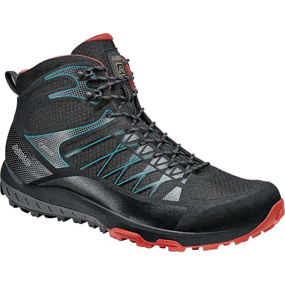 アゾロ Asolo メンズ ハイキング・登山 ブーツ シューズ・靴【Grid Mid GV Boot】Black/Red
