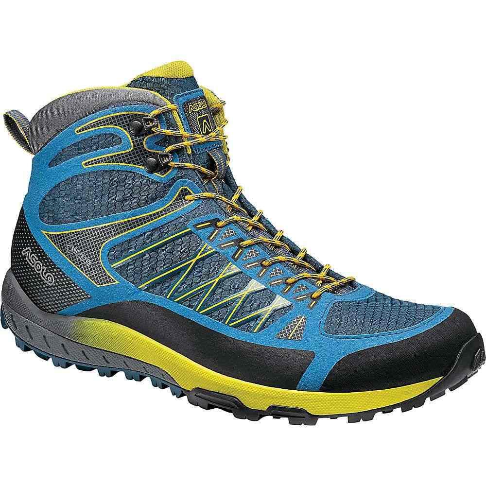アゾロ Asolo メンズ ハイキング・登山 ブーツ シューズ・靴【Grid Mid GV Boot】Indian Teal Yellow