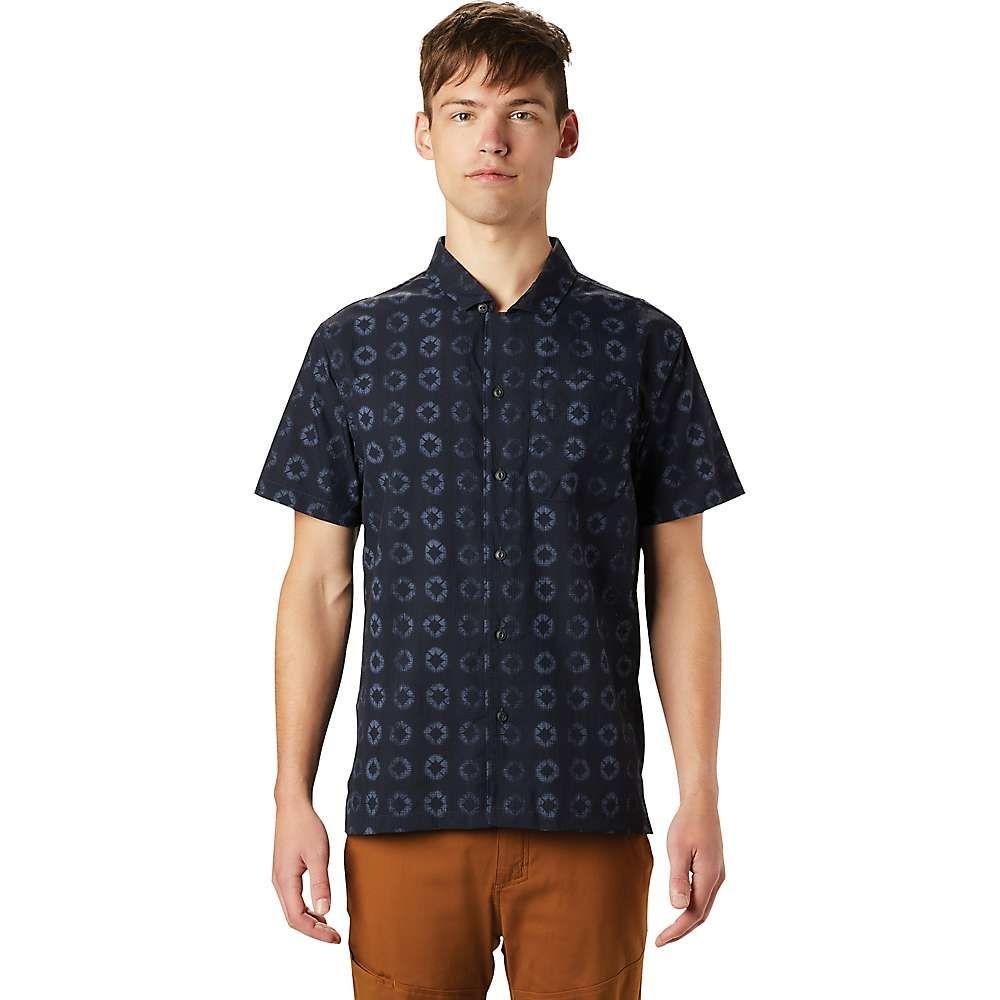 マウンテンハードウェア Mountain Hardwear メンズ 半袖シャツ トップス【El Portal SS Shirt】Dark Zinc Geo Print