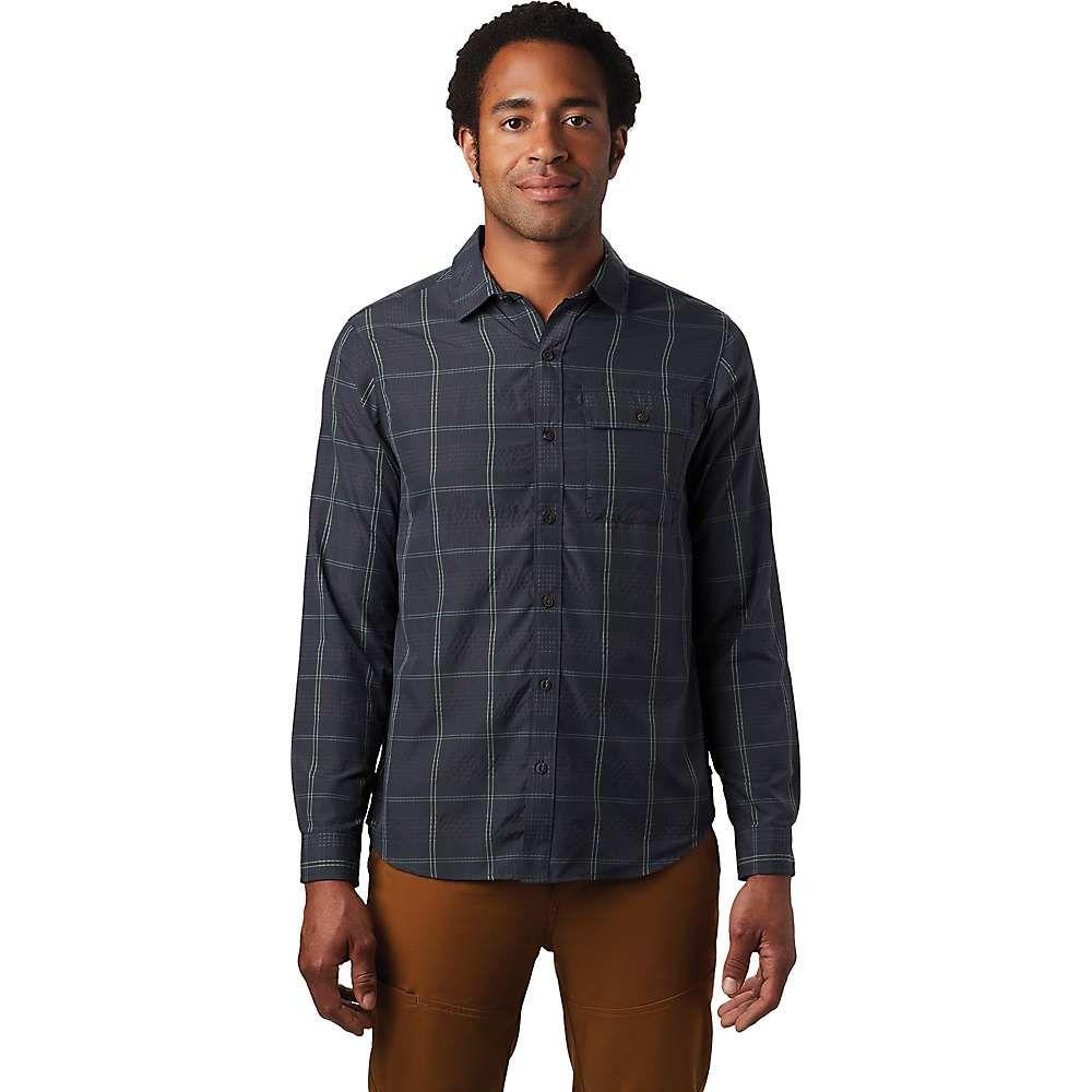 マウンテンハードウェア Mountain Hardwear メンズ シャツ トップス【Greenstone LS Shirt】Dark Storm