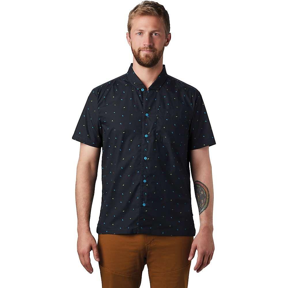 マウンテンハードウェア Mountain Hardwear メンズ 半袖シャツ トップス【Hand/Hold Printed SS Shirt】Dark Storm Cam Print